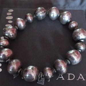 Silpada SS Atmospheric Ball Bead stretch Bracelet